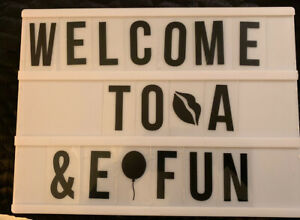 Small Light Up Sign Letter Board