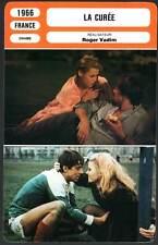 LA CUREE - Fonda,Piccoli,Vadim (Fiche Cinéma) 1966 - The Game Is Over