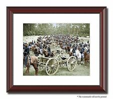 """Gibson Artillery Soldiers Union 11x14"""" Framed Photo Print Color Civil War -00159"""