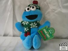 Cookie Monster Holiday beanbag doll, Sesame Street; Applause, NEW