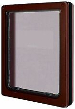 """Pet Mate Large Dog Door in Brown for Dogs to 25"""" / 630mm - Weatherproof & Silent"""
