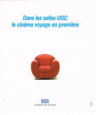 PUBLICITE ADVERTISING 064  1995   LES CINEMAS  UGC  voyage en 1° classe