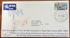 1984 50th anniversary of 1st airmail aust to png first day cover