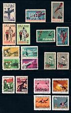 N. Vietnam (19 stamps) US aircraft brought down over North Vietnam (1964-1972)