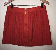 Richard Chai for Target Junior Womens Orange Zipper Front Textured Skirt Size 7
