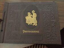 Antique Beautifiul Photograph Scrapbook Hardback Album