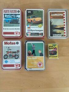 Quartett Flotte Flitzer, Mofas, Hau-Ruck, Sportwagen, Schönes Europa, Brummis