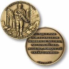 I Will Fear No Evil - Valley Of The Shadow - Psalm 23 Spanish Challenge Coin NEW