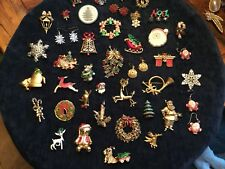 41 PC HUGE LOT VINTAGE COSTUME ESTATE JEWELRY CHRISTMAS BROOCHES PINS Gerry's
