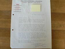 HT174-NORTIER EN HARMSZE UITGEVERIJ 1963 REDACTIE HAND SIGNED AUTOGRAPH