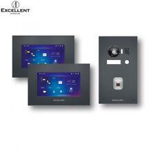 EXCELLENT IP EX-IP105-G Türsprechanlage 2 Monitore Fingerprint Grau