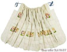 RARE old Croatian embroidered folk costume apron ethnic peasant dress Posavina?