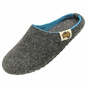 Gumbies - OUTBACK SLIPPER Charcoal & Turquoise Pantoffeln Schlappe Chaussons