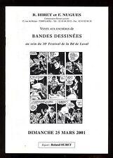 CATALOGUE VENTE BD ENCHERES  LAVAL  25/03/2001