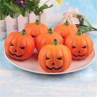 5pcs Halloween Artificial Pumpkin Simulation Lifelike Props Garden Home Decor