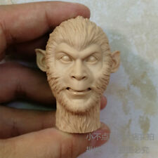 1/6 scale The Monkey King Head Sculpt unpainted The Journey to the West angry