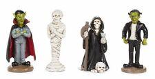 HALLOWEEN Monster MUMMY Reaper VAMPIRE DA 30014205 Miniature Fairy Garden 4 pcs
