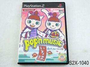Pop'n Music 12 Iroha Playstation 2 Japanese Import Japan Bemani JP PS2 US Seller