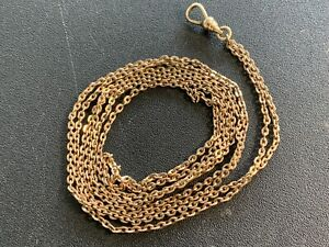 Antique Vintage Gold Filled Watch Chain 44""