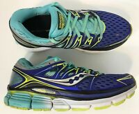 Saucony Womens Triumph Iso Fit Running Shoes Size 7 Purple Blue