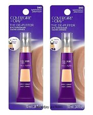 Lot of 2 New Covergirl + Olay The De-Puffer Eye Concealer Light / Medium 340