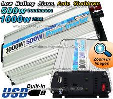 Car Caravan Camping 500W 1000w Peak 12v To 230v Mains Power Inverter swinv500