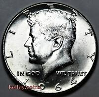 1964 50C Kennedy Silver Half Dollar BU
