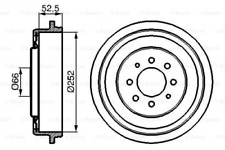 2x Bremstrommel für Bremsanlage Hinterachse BOSCH 0 986 477 067
