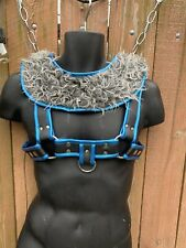 Gay Bear style Leather Chest Harness with detach front synthetic hair!