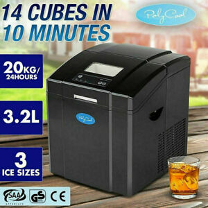 Portable Ice Cube Maker Machine 3.2L Quick Commercial POLYCOOL