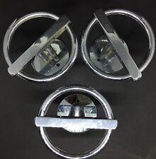 Lot de 3 patères en métal chromé JEAN ROYÉRE design des années 50 60