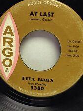 5380 Etta James At Last 45 Record Argo Label 1960