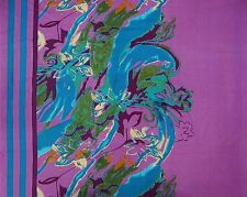 """Purple Designer Fabrics 44"""" Wide Floral Cotton Fabric For Sewing By The Yard"""