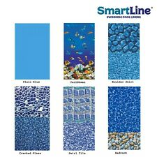 SmartLine 25 Gauge Overlap Swimming Pool Liner (Choose Pattern & Size)