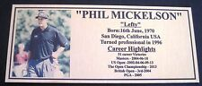 Golf Phil Mickelson Gold or Silver Plaque free post**