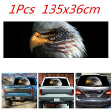 USA Flag Bald Eagle Vinyl Graphic Decal Sticker For Car Truck SUV Rear Window