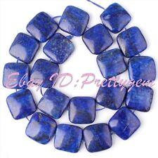 "20mm Square Blue Lapis Lazuli Gemstone Spacer Jewelry Making Beads Strand 15"""