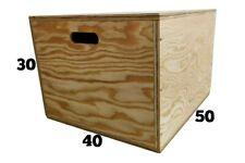 PLYO BOX - Box pliometrico in legno cm50x40x30 , CROSSFIT, FUNCTIONAL TRAINING