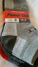 Mens Ankle Socks 3 Pack Black Gray Red Power Club Athletic  Checked Fashion New