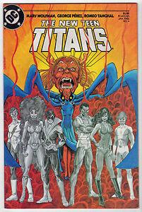 new TEEN TITANS #4 Jan 1985 nightwing Marv Wolfman GEORGE PEREZ VF LOT (10)