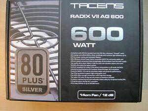 Tacens Radix VII AG 600W 80plus Silver (Fuente de alimentación)