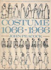 "JOHN PEACOCK - ""COSTUME 1066-1966"" - FASHION SKETCHBOOK - THAMES & HUDSON (1986)"