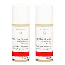 2 PCS Dr. Hauschka Sage Mint Deodorant 50ml Antiperspirant Scent Fresh#17002_2