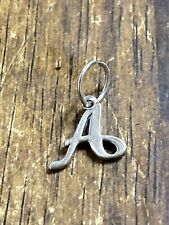 """James Avery Sterling Silver 925 Smooth  Letter Initial """"A"""" Charm / Pendant"""