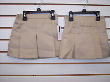 Girls Izod Khaki or Navy Uniform Skorts Size 4 - 6X