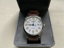 LONGINES Heritage Spirit Watch AUTOMATIC Swiss USED Estate Sale .99 White Face