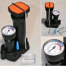 Outdoor Cycling Foot Activated Floor Bike Bicycle Pump With Air Pressure Gauge