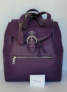 Coach Pbbl Leather Backpack C5648.  NWT $428
