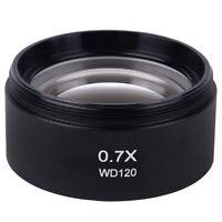 WD120 0.7X Trinocular Stereo Microscope Auxiliary Objective Lens Barlow Lens e13
