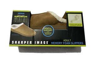 Sharper Image Ultra-Soft Memory Foam Slippers Size Medium